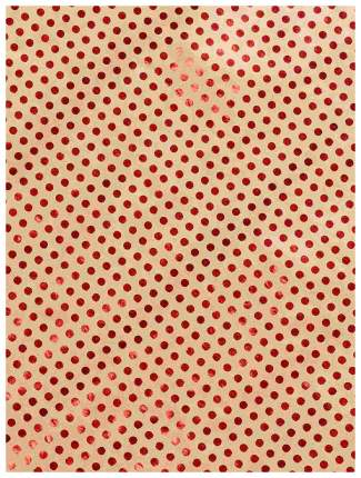 """Бумага крафт """"Красный горох"""", 60 г/м2, 100х70 см"""