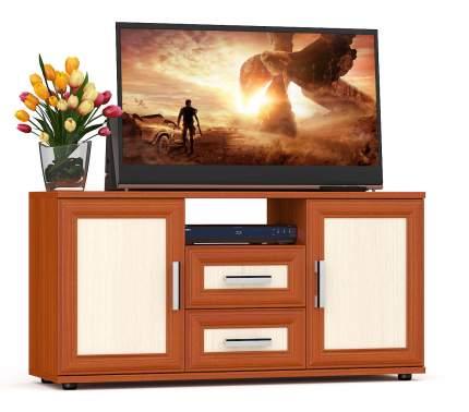 Тумба под телевизор приставная Мебельный Двор Бонус 120х36х60 см, вишня/дуб