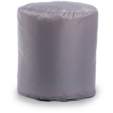 Пуф бескаркасный ПуффБери Цилиндр Оксфорд, размер S, оксфорд, серый
