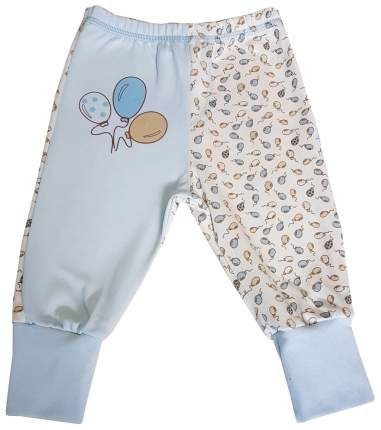 Ползунки - штанишки Папитто с манжетом Воздушные шарики цвет голубой р.20-62