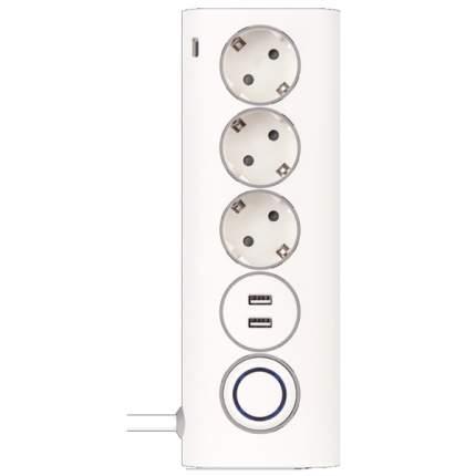 Сетевой фильтр Rombica Neo WC3U PSE-003, 3 розетки, 1,5 м, White
