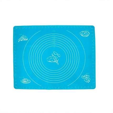 Коврик силиконовый для раскатки теста Homsu голубой