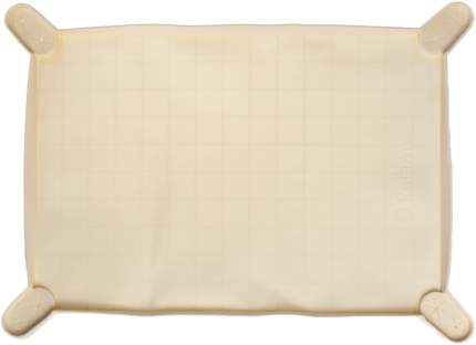 Силиконовый коврик-лоток с бортиком Premium Pet Japan для пелёнок 44х31х1,5см, Бежевый