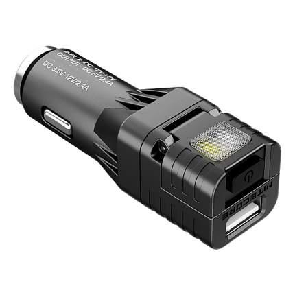Автомобильное зарядное устройство Nitecore VCL10 (Черное)