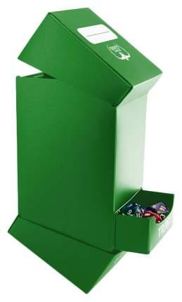Коробочка Ultimate Guard на 100 карт с отделением для кубиков, зеленая