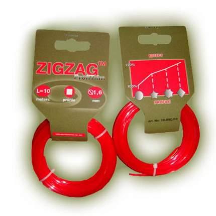 Леска для триммера ZigZag Profitrim / 16LRSCJ10 (10м, красный)