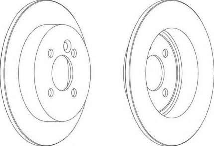 Тормозной диск FERODO DDF1128
