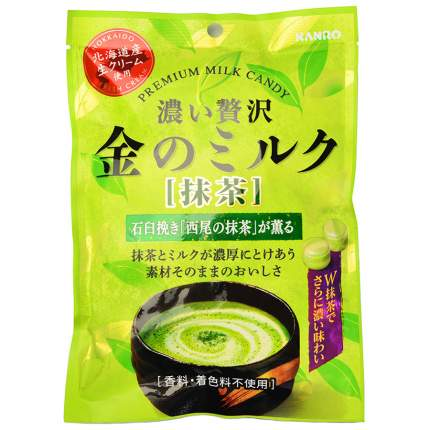 Карамель Kanro молочная с зеленым чаем