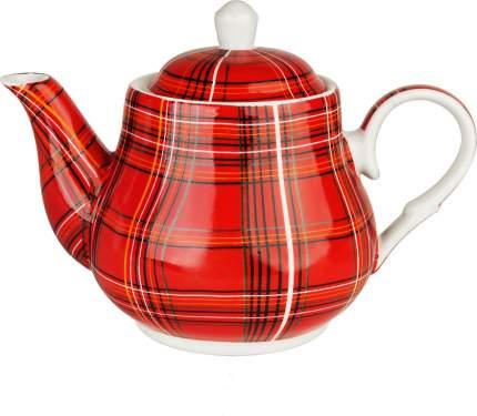Чайник заварочный Коралл TP03-PL Шотландка Красный