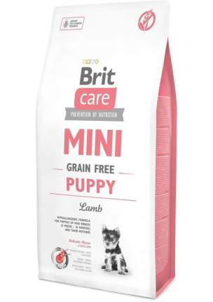 Сухой корм для щенков Brit Care Mini Grain Free Puppy, для мелких пород, ягненок, 7кг
