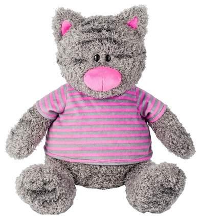 Мягкая игрушка Maxitoys Серый Кот в Полосатой Майке, 30 см