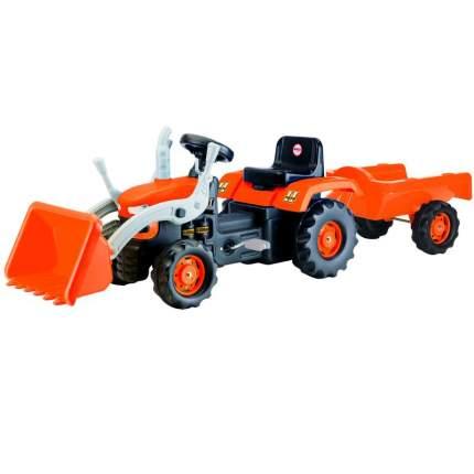 Педальный трактор-экскаватор с прицепом Dolu DL_8052