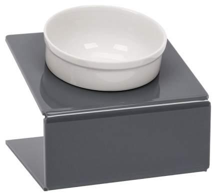 Одинарная миска для кошек и собак Artmiska, керамика, серый, 0.35 л