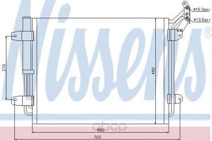 Радиатор кондиционера Nissens для Volkswagen Tiguan 1.4, 2.0 tsi/tdi 2007- 940138