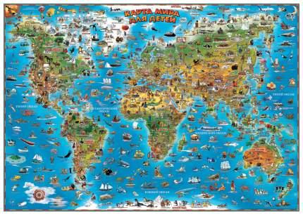 Детская настенная карта АГТ-Геоцентр Карта мира для детей