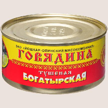 Консервы мясные ЙОМ говядина тушеная богатырская 325 г