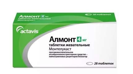 Алмонт таблетки жевательные 4 мг 28 шт.