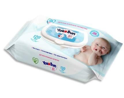 Детские влажные салфетки YokoSun, 120 шт.