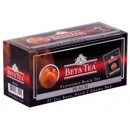 Чай черный в пакетиках для чашки Beta Tea персик 25*2 г