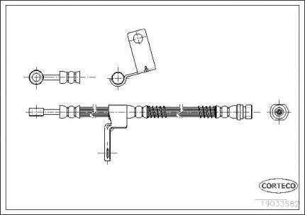 Шланг тормозной CORTECO 19033582