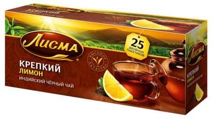 Чай Лисма лимон черный крепкий ароматизированный 25 пакетиков