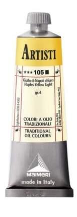 Масляная краска Maimeri Artisti 105 неаполитанский желтый светлый 60 мл