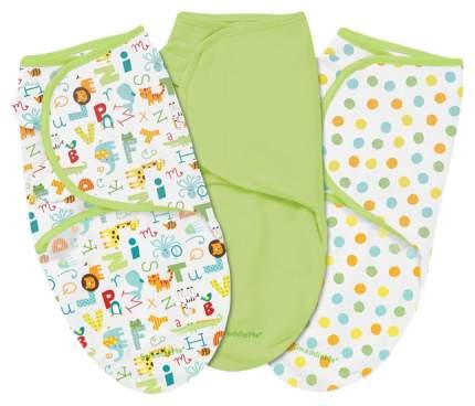 Конверты для новорожденных 3 шт.  Summer Infant Swaddleme  S/M, алфавит/зеленый/горошки