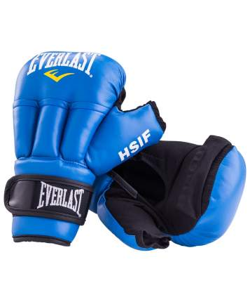 Перчатки для рукопашного боя Everlast HSIF RF3212L, 12oz, L, к/з, синий