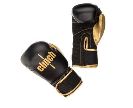 Боксерские перчатки Clinch Aero черные/золотые 12 унций