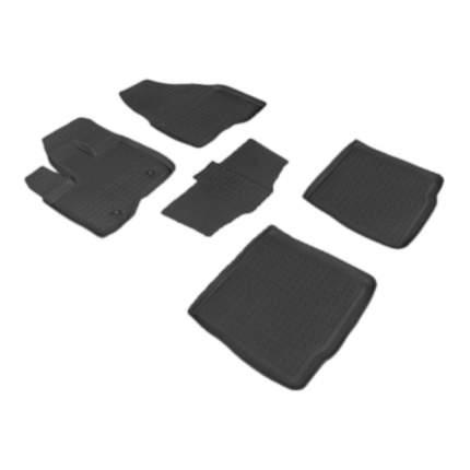 Резиновые коврики SeiNtex 85081 с высоким бортом для Ford Explorer V (до 3,5л) 2010-2015