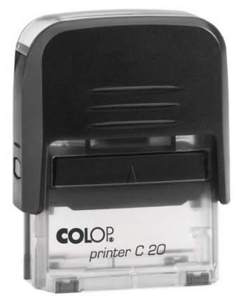 Оснастка для печати Colop C20 Compact Transparent. Цвет корпуса: черный.