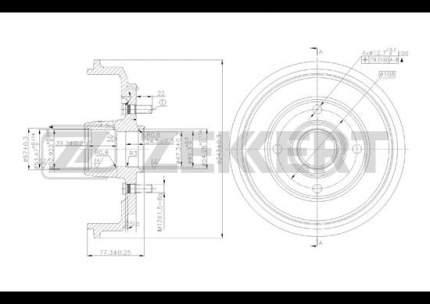 Тормозной барабан ZEKKERT BS-5132