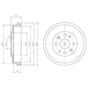 Тормозной барабан DELPHI BF456