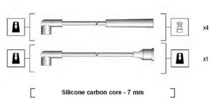 Комплект проводов зажигания MAGNETI MARELLI 941325120904