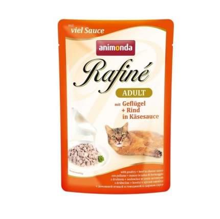 Влажный корм для кошек Animonda Rafine Soupe Adult, домашняя птица, говядина, сыр, 100г