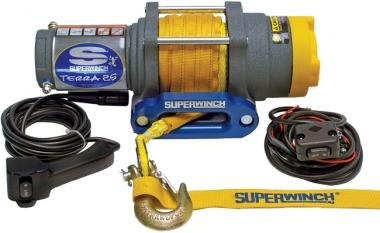 Лебедка электрическая для квадроцикла Superwinch Terra 25 с синтетическим тросом W0856