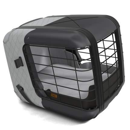 Автобокс 4PETS Caree Cool Grey для собак до 8кг крепление ISOFIX, серый, 57х46,5х47,5см