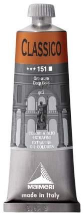 Масляная краска Maimeri Classico темное золото 60 мл