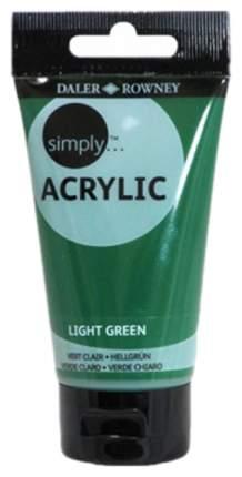 Акриловая краска Daler Rowney Simply зеленый светлый 75 мл