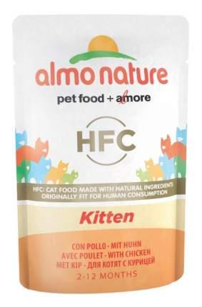 Влажный корм для котят Almo Nature HFC Kitten, курица, 55г