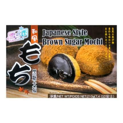 Моти Yuki & Love японский с коричневым черным сахаром 6 шт 210 г