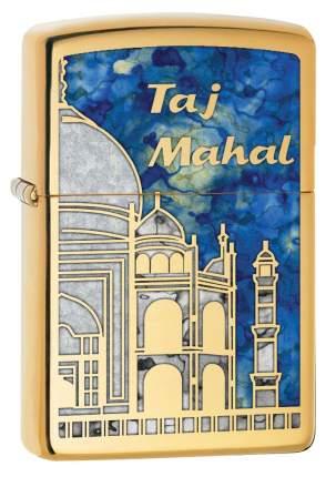 Бензиновая зажигалка Zippo Taj Mahal High Polish Brass