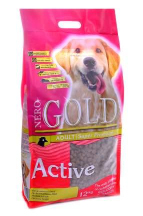Сухой корм для собак NERO GOLD Active, все породы, для активных, курица и рис, 12кг