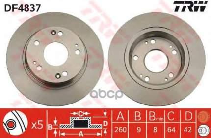 Тормозной диск TRW/Lucas DF4837 задний