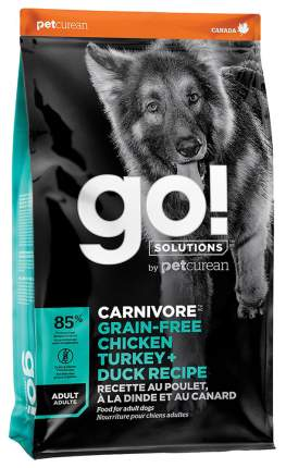 Сухой корм для собак GO! Carnivore Grain Free Adult, индейка, курица, лосось, утка, 10кг