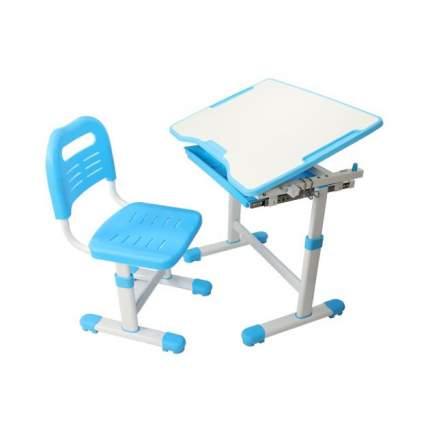 Комплект парта и стул трансформеры Fundesk Sole голубой, белый,