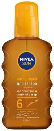 Масло для загара Nivea Золотистый и стойкий загар SPF6 200 мл