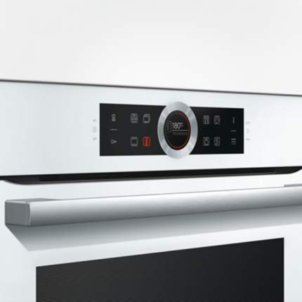 Встраиваемый электрический духовой шкаф Bosch HBG672BW1F Silver