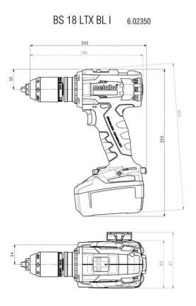 Аккумуляторная дрель-шуруповерт Metabo BS 18 LTX BL I 602350890 БЕЗ АККУМУЛЯТОРА И З/У