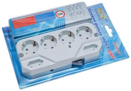 Сетевой фильтр MOST Compact СHV 6, 6 розеток, 5 м, White